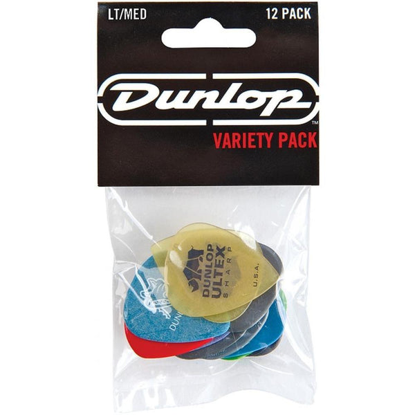 Dunlop PVP101 Variey Pick Pack Light/Medium - 12 pack