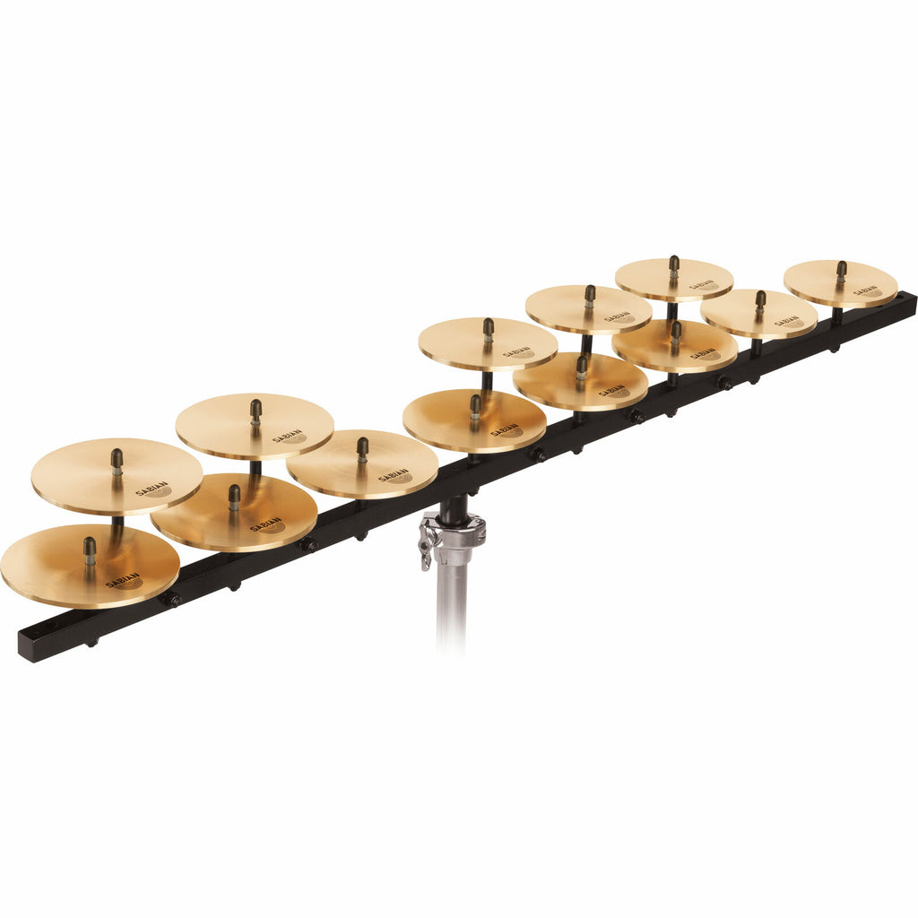 Sabian Low Crotale Cymbal Set (13) with Bar and Base - 50403LB