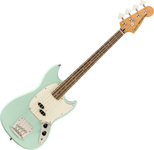 Squier Classic Vibe '60s Mustang Bass Guitar Laurel in Surf Green - 0374570557