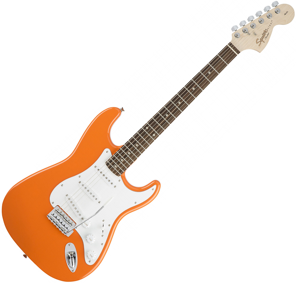 Squier Affinity Stratocaster Electric Guitar Laurel in Competition Orange