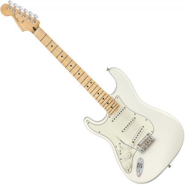 Fender 0144512515 Left Handed Player Stratocaster Electric Guitar Maple Neck in Polar White