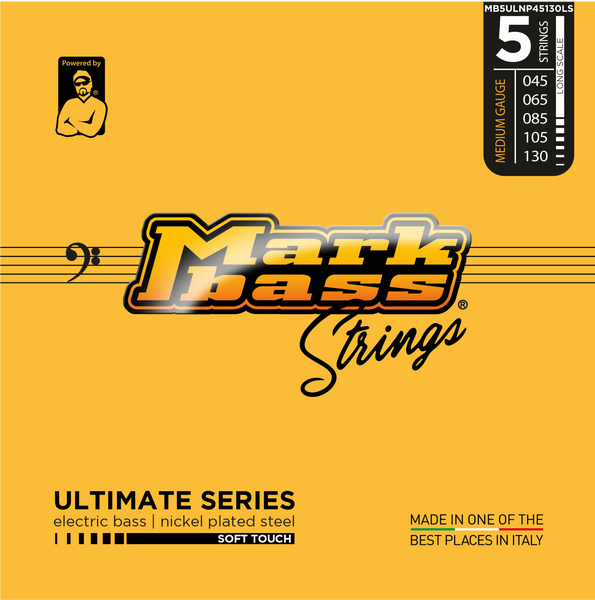 MarkBass Ultimate Series 5 String Nicklel Plated 45-130 Soft Touch Bass Strings - MB5ULNP45130LS