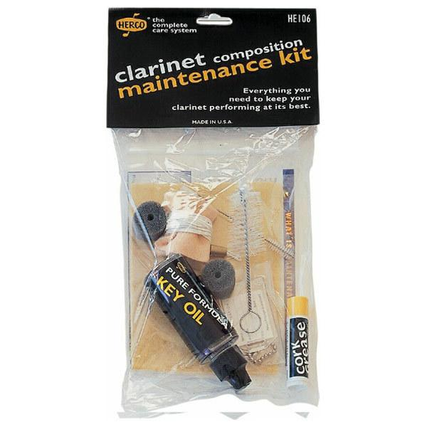 Herco HE106 Composition (Plastic) Clarinet Maintenance Cleaning Kit