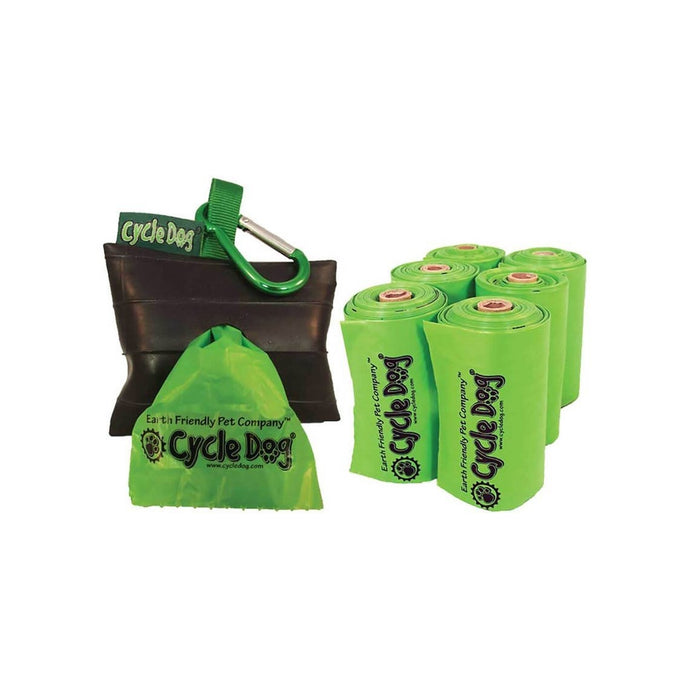 Compostable Cycle Dog Poop Bags & Park Pouch holder