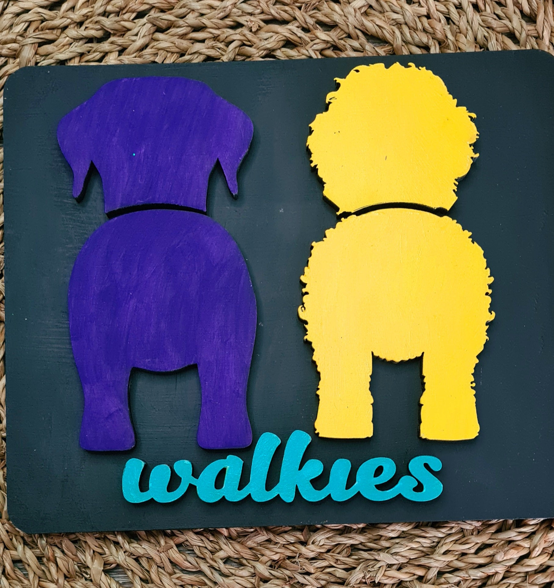 Two Dog Personalised Dog Lead Holder