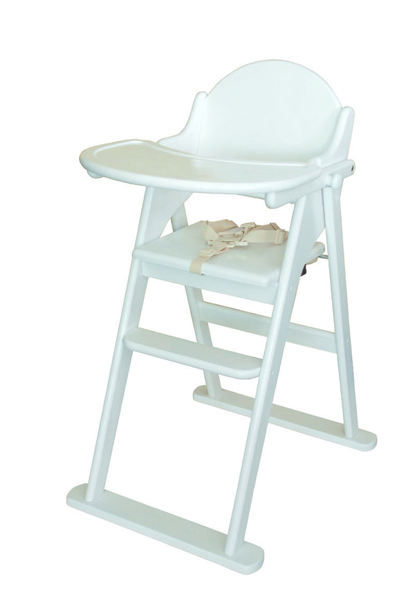 East Coast White Folding Highchair