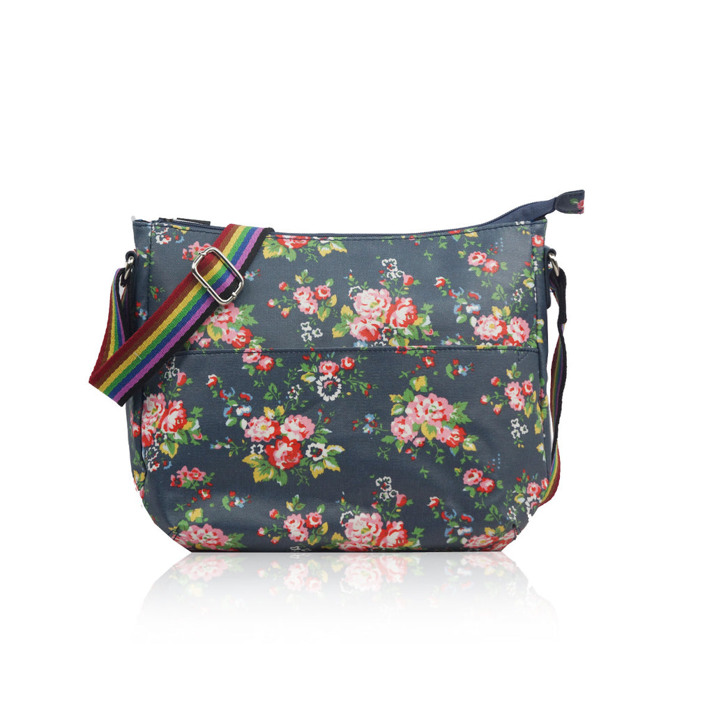 Navy Vintage Flower Small Bag