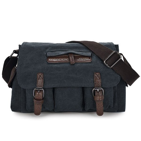 Leather Panel Men's Bag