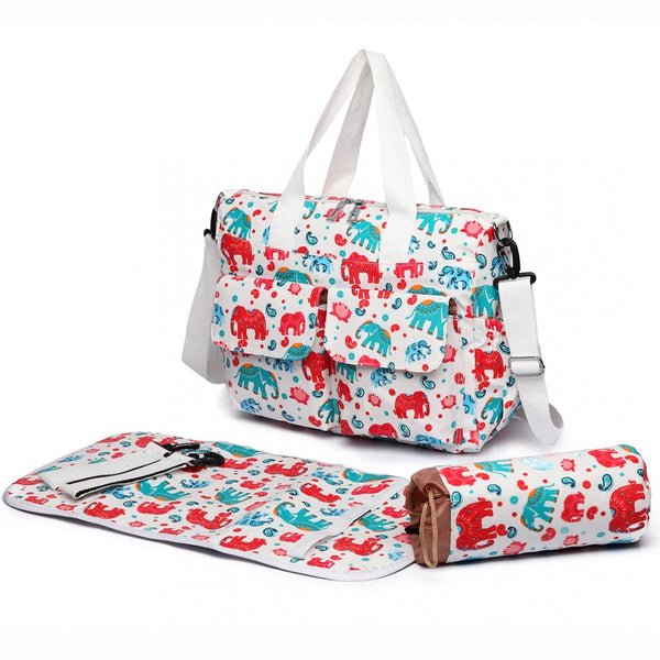 White Elephant Changing Bag Sets