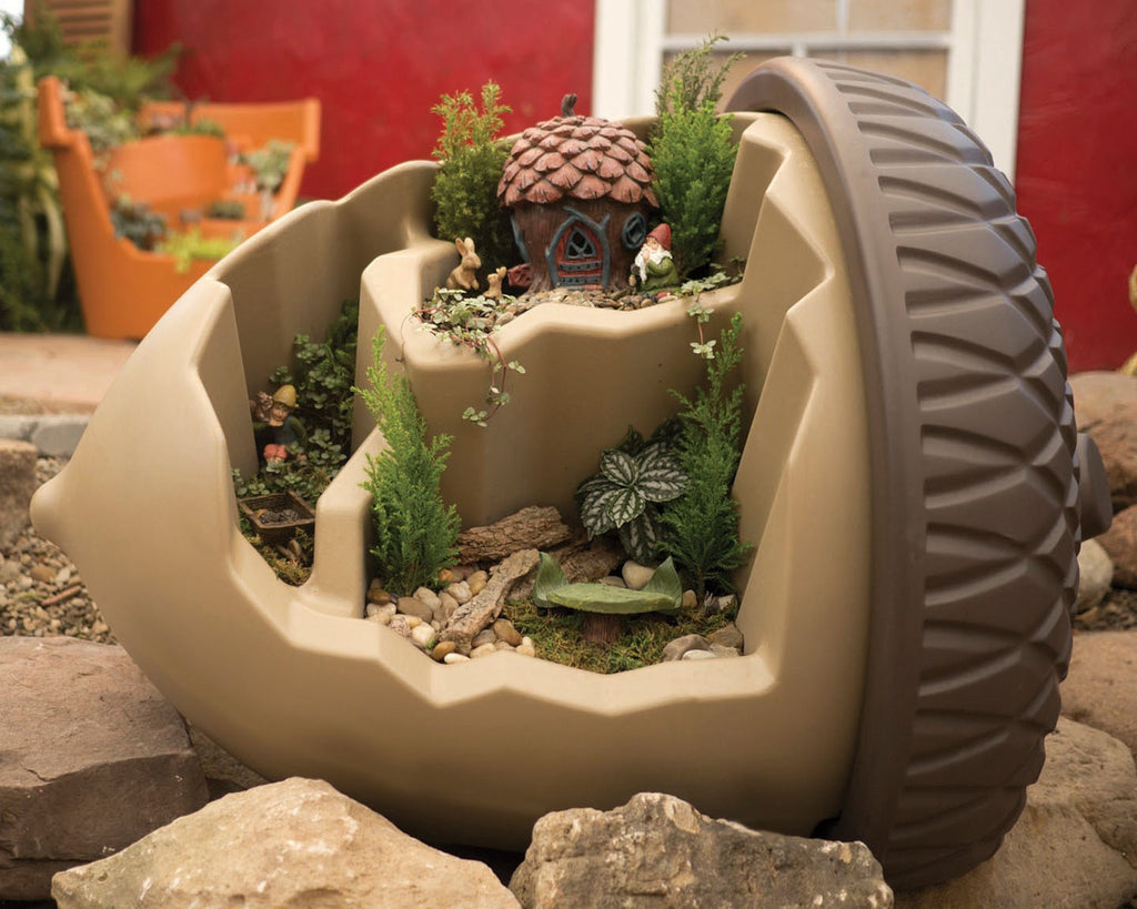 Oversized Eco Personal Garden Acorn Pot (planted)