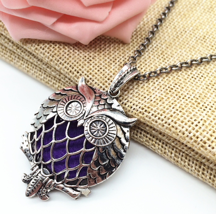 Essential Oil Owl Diffuser Necklace