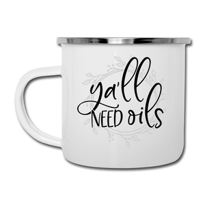 """Ya'll Need Oils"" Camper Mug - white"