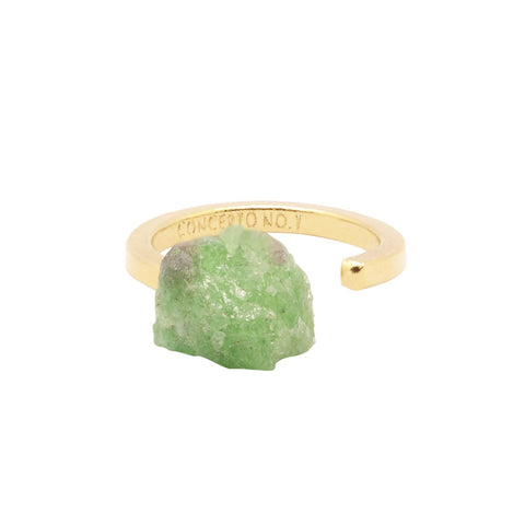 Bague Side Tsavorite Or