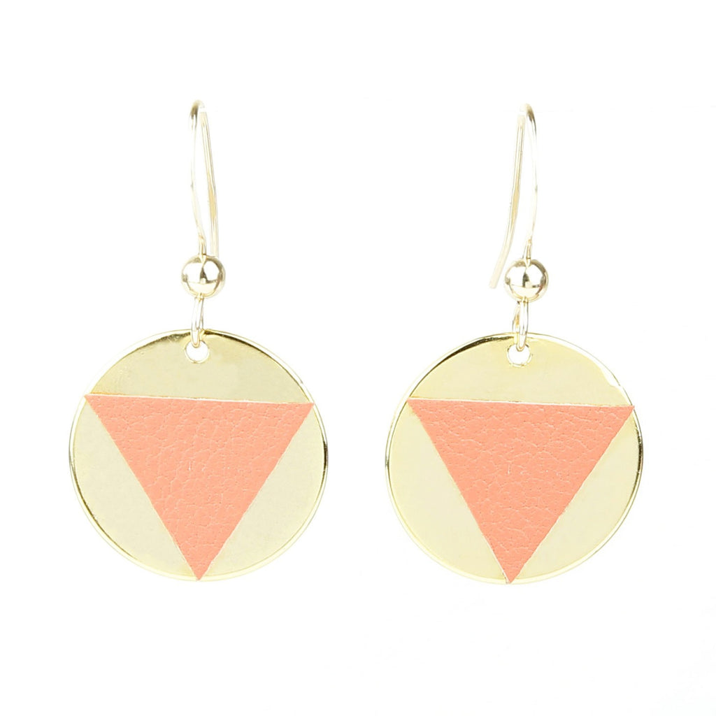 Boucles d'Oreilles SUNSET Corail-A.MOOD.Z- laboutique.emma-chloe