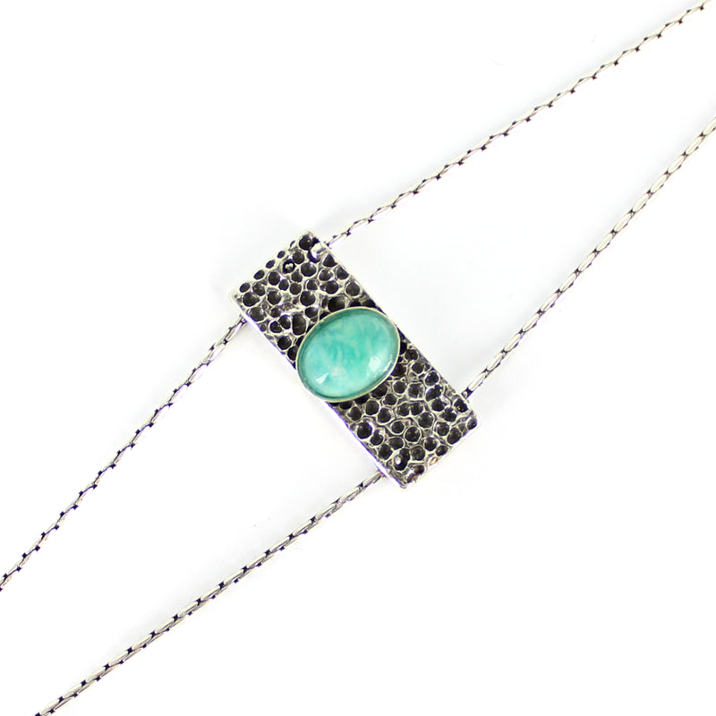 Bracelet Fomy Silver turquoise-Room Service- laboutique.emma-chloe