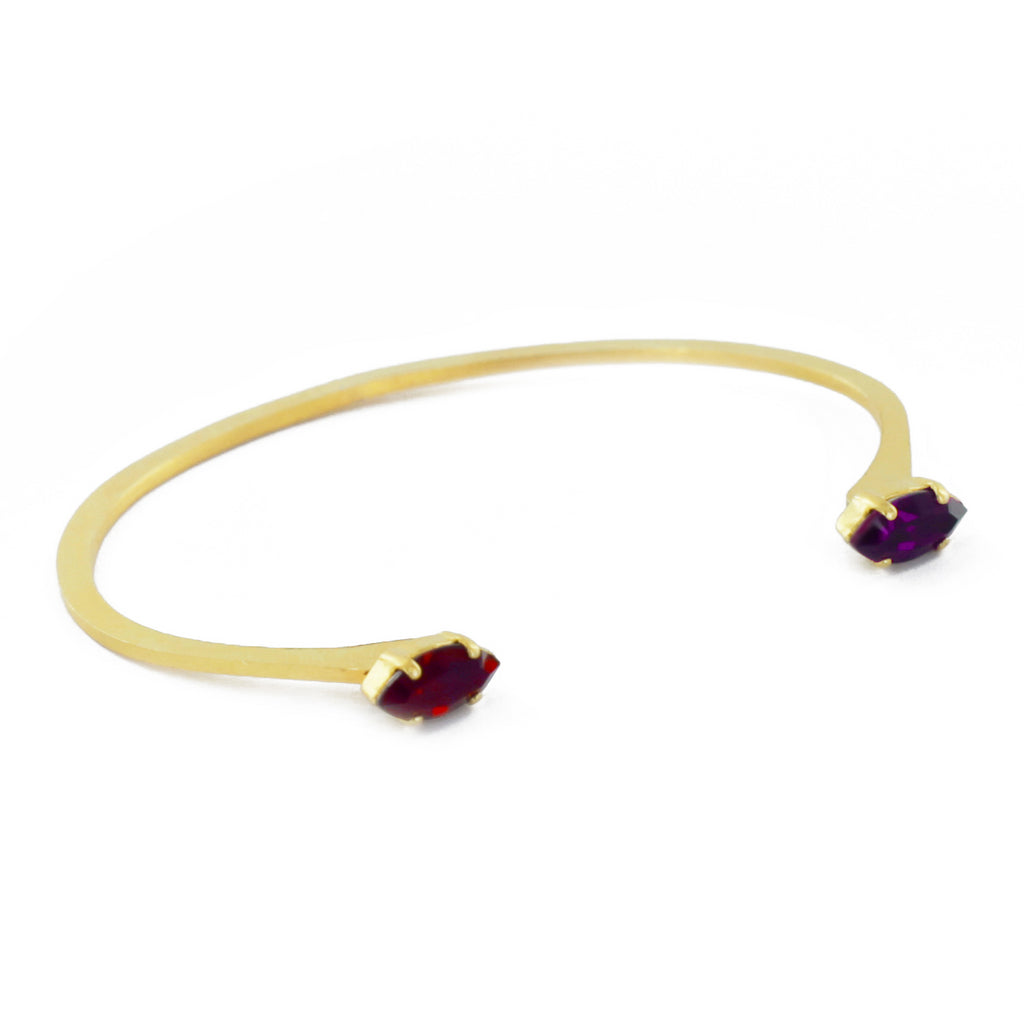 Bracelet Navette Rouge & Violet-Louise Damas- laboutique.emma-chloe