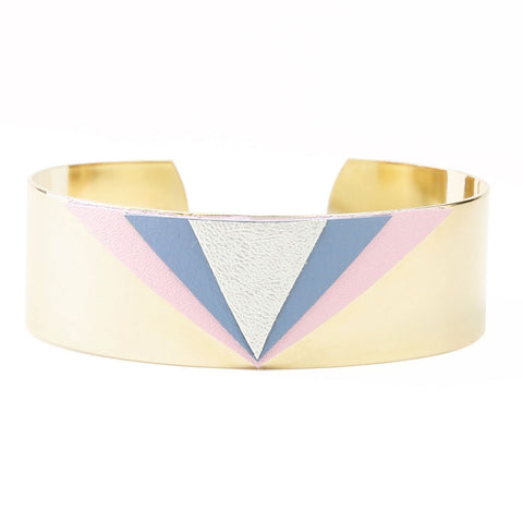 Bracelet Triangle Cuir ROSE &  BLEU