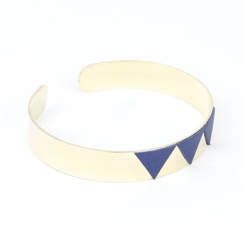 Bracelet Trio Bleu Or