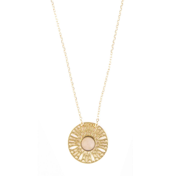 Collier Dentelle Quartz Rose