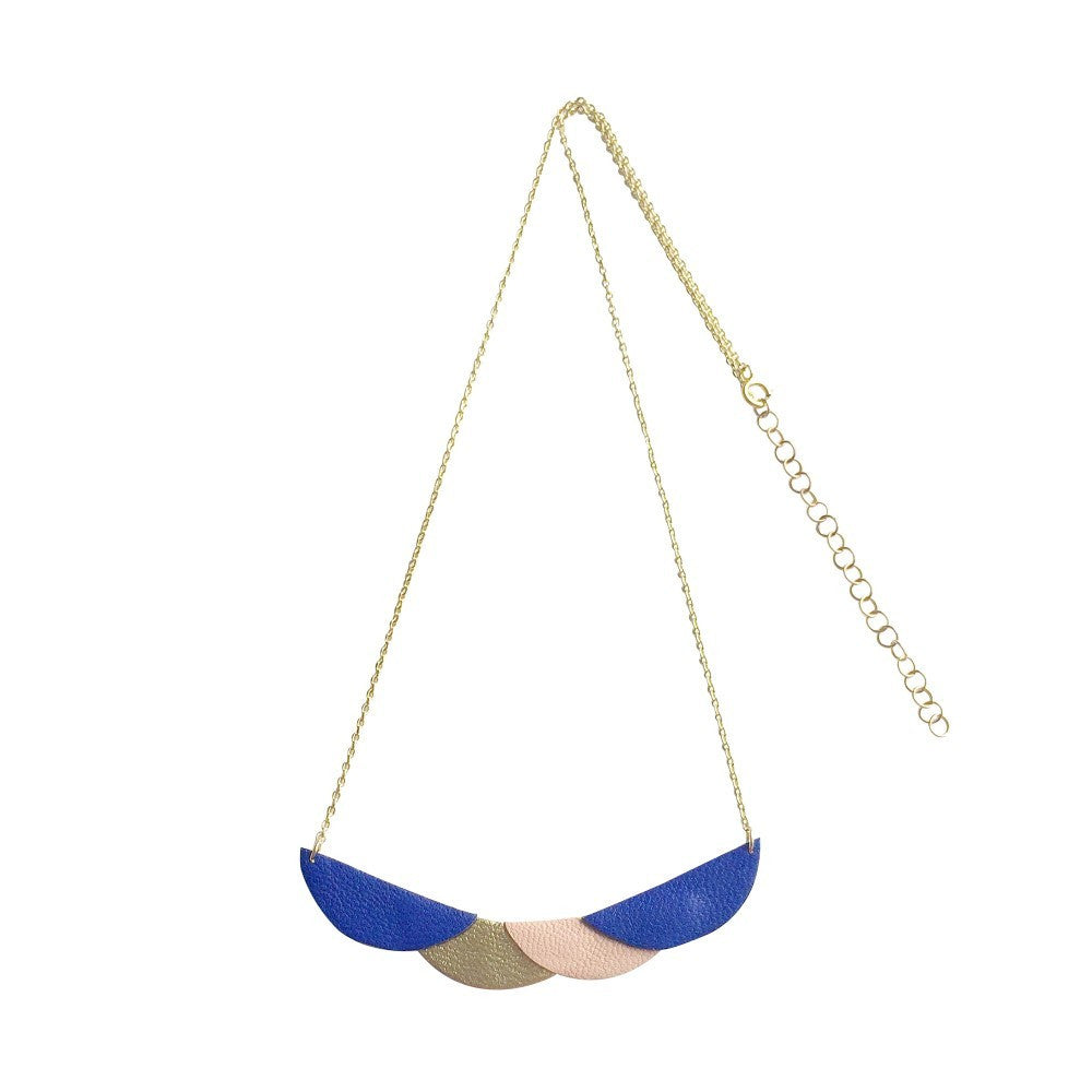 Collier Elbe - Cobalt, Terracotta & Or-May & June- laboutique.emma-chloe