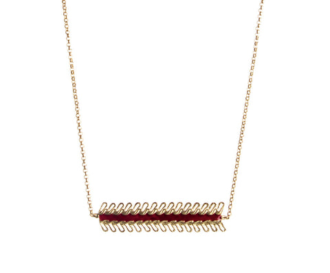 Collier Favorite - Bordeaux-Le sursaut- laboutique.emma-chloe