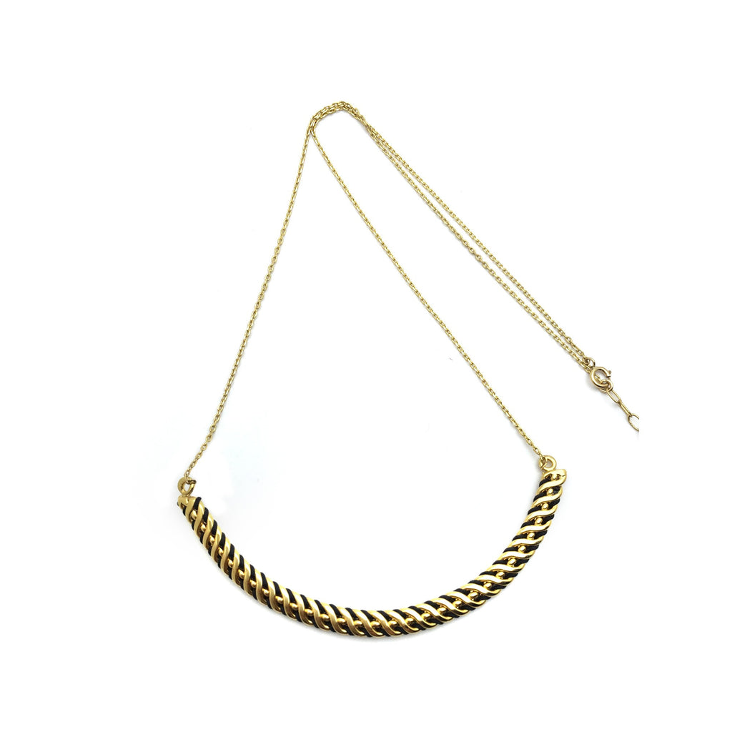 Collier Jucar Noir & Or