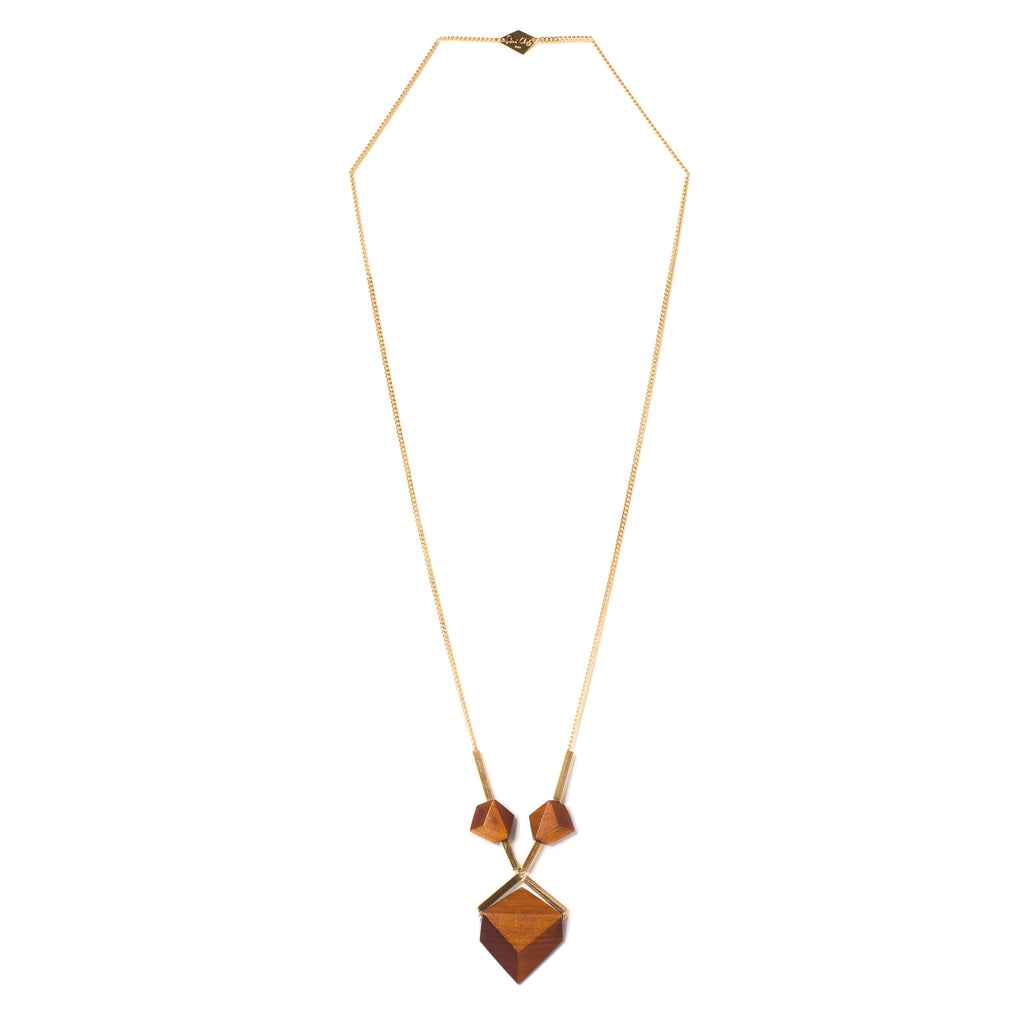 Collier Lisam Orange et Doré