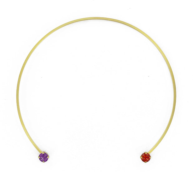 Collier Rond Rouge & Violet
