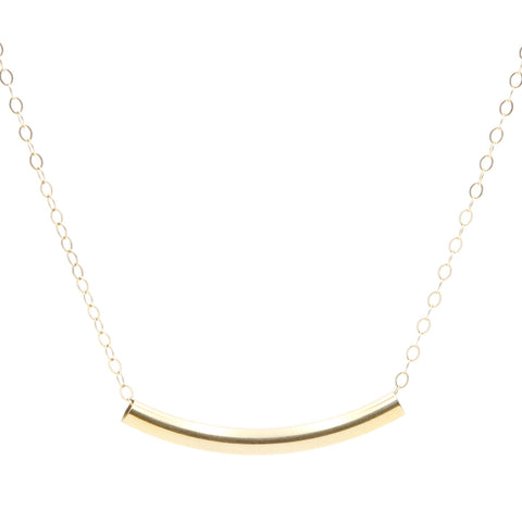 Collier Smiling Tube Doré
