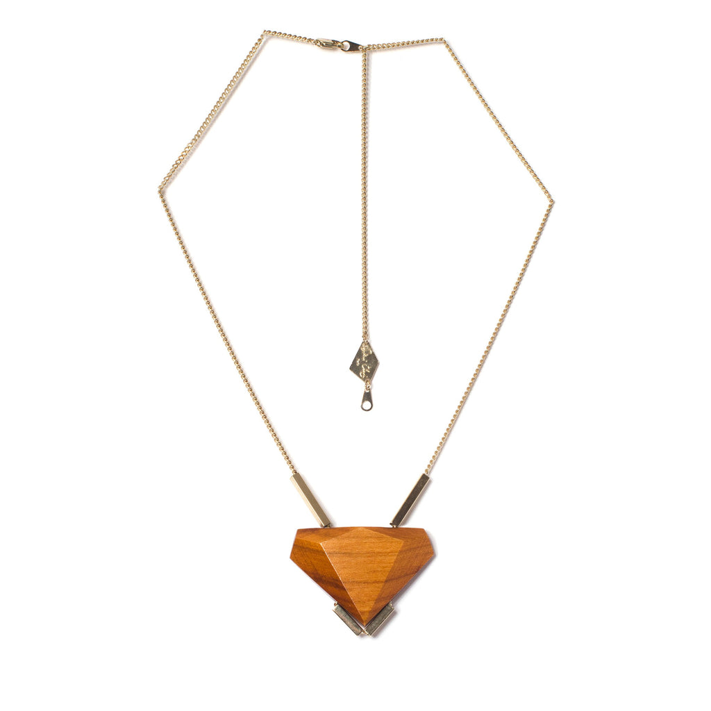 Collier Uren Orange et Champagne