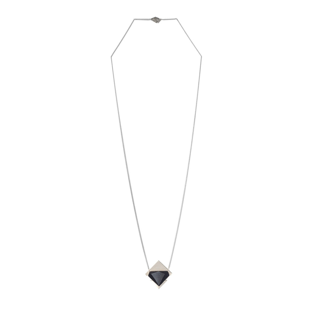 Collier Zama Noir Argent-Salomé Charly- laboutique.emma-chloe