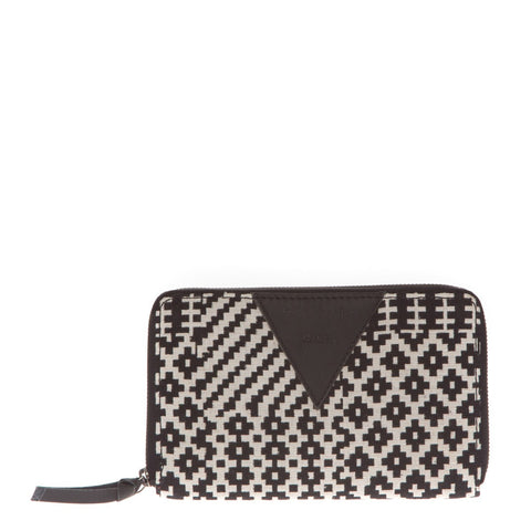 Portefeuille WATER Black & White-Folklo by Ka- laboutique.emma-chloe