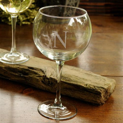 Red Wine Glass - Monogrammed Red Wine Glass