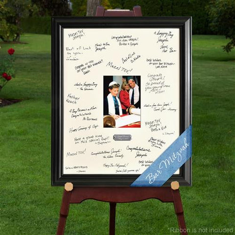 Laser Engraved Wedding Wishes Signature Frame - BARBATMITZ