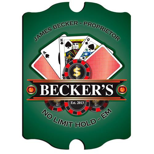 Vintage Series Personalized Signs  - POKER