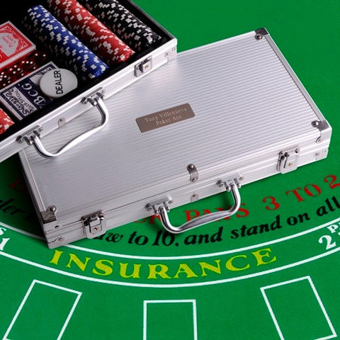Personalized Professional 300 Piece Poker Chips & Set