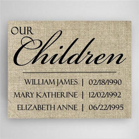 Our Children Canvas Sign
