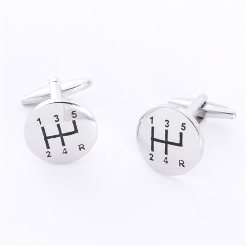 Dashing Cuff Links with Personalized Case  - STICKSHIFT
