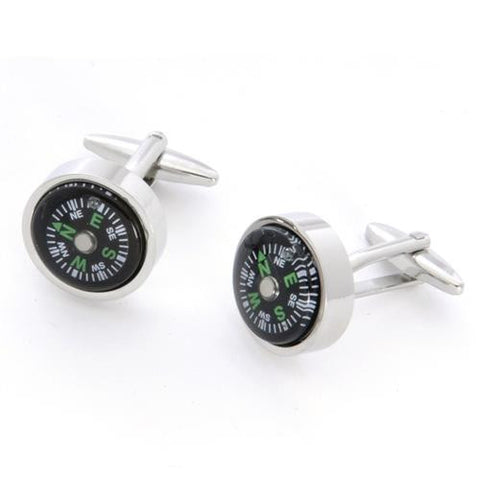 Dashing Cuff Links with Personalized Case  - COMPASS