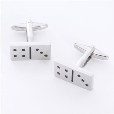 Dashing Cuff Links with Personalized Case  - DOMINOES