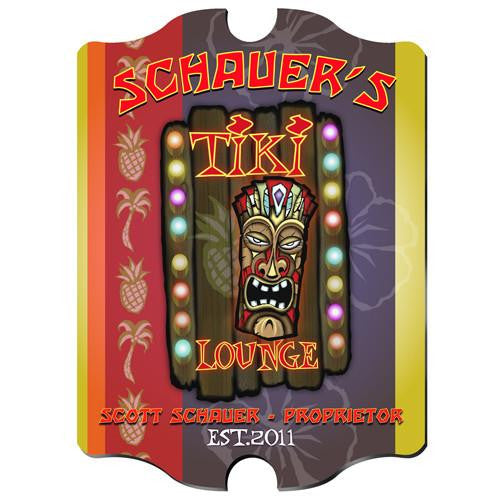 Vintage Series Personalized Signs  - TIKI