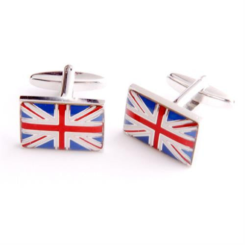 Dashing Cuff Links with Personalized Case  - BRITISHFLG