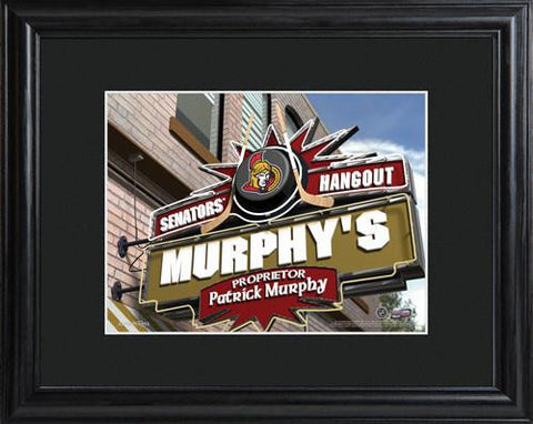 NHL Pub Print in Wood Frame  - SENATORS