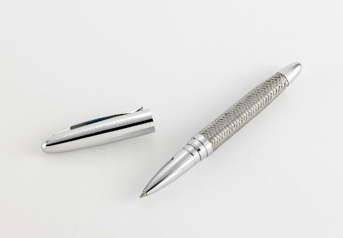 Personalized Pen - Woven Metal