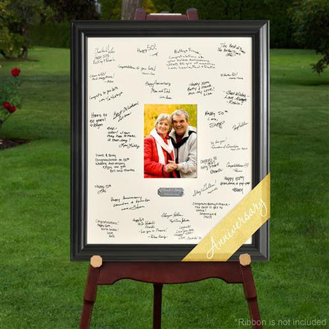 Laser Engraved Wedding Wishes Signature Frame - ANNIV.
