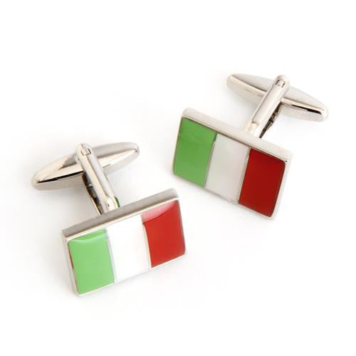 Dashing Cuff Links with Personalized Case  - ITALYFLAG