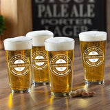 Pint Glass Set of 4 - Brew Master