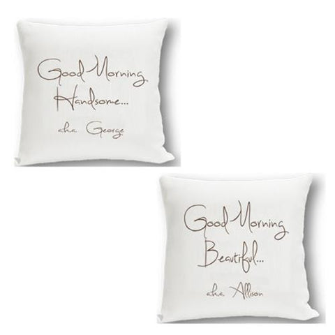 Couples Throw Pillow Set