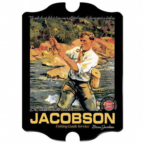 Vintage Series Personalized Signs  - FISHGUIDE