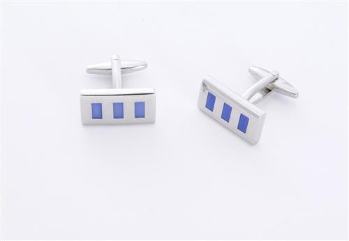 Dashing Cuff Links with Personalized Case  - BLUERECTAN